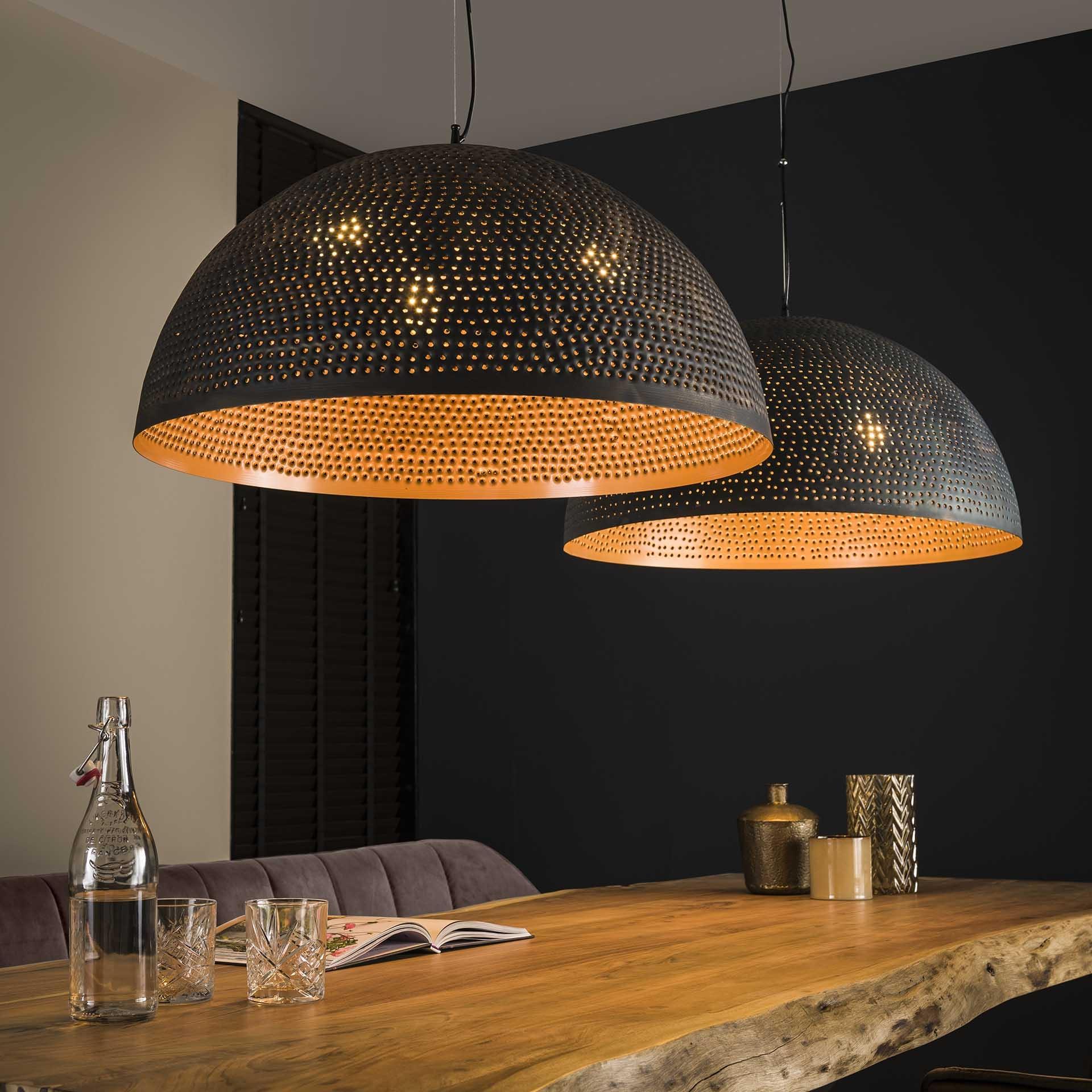 Hanglamp Murray 2 kappen Zwart bruin