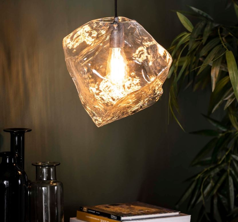 Hanglamp Rock glas 150 cm hoog