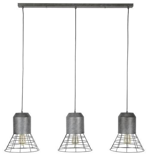 Hanglamp Shuttle 3LxØ30 120 cm breed - Zilver