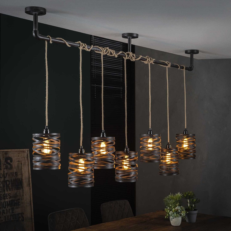 Hanglamp Twister 157 cm breed in slate grijs