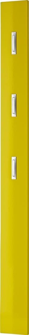 Kapstokpaneel Brenda 170 cm hoog in hoogglans geel