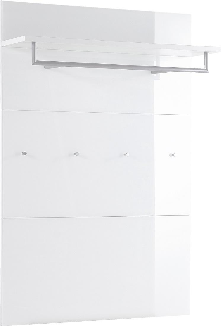 Kapstokpaneel Scalea 144 cm hoog - Wit