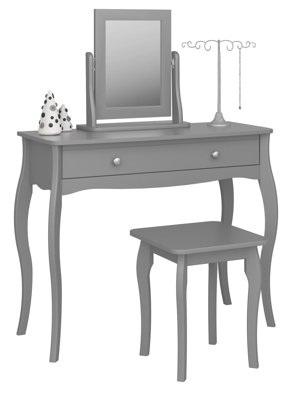 Kaptafel Set Baroque 100 cm breed in grijs met spiegel