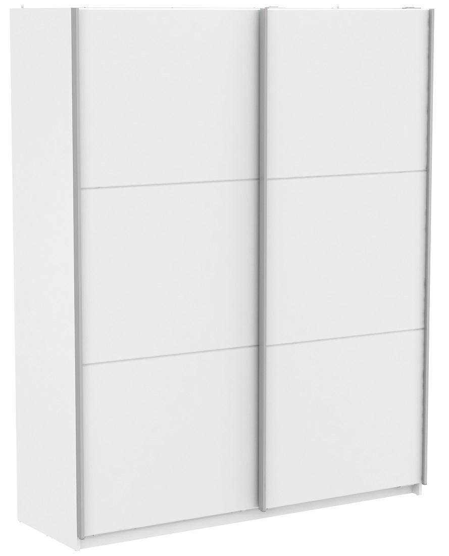 Slaapkamer kledingkast Alhambra 178 cm breed - Wit