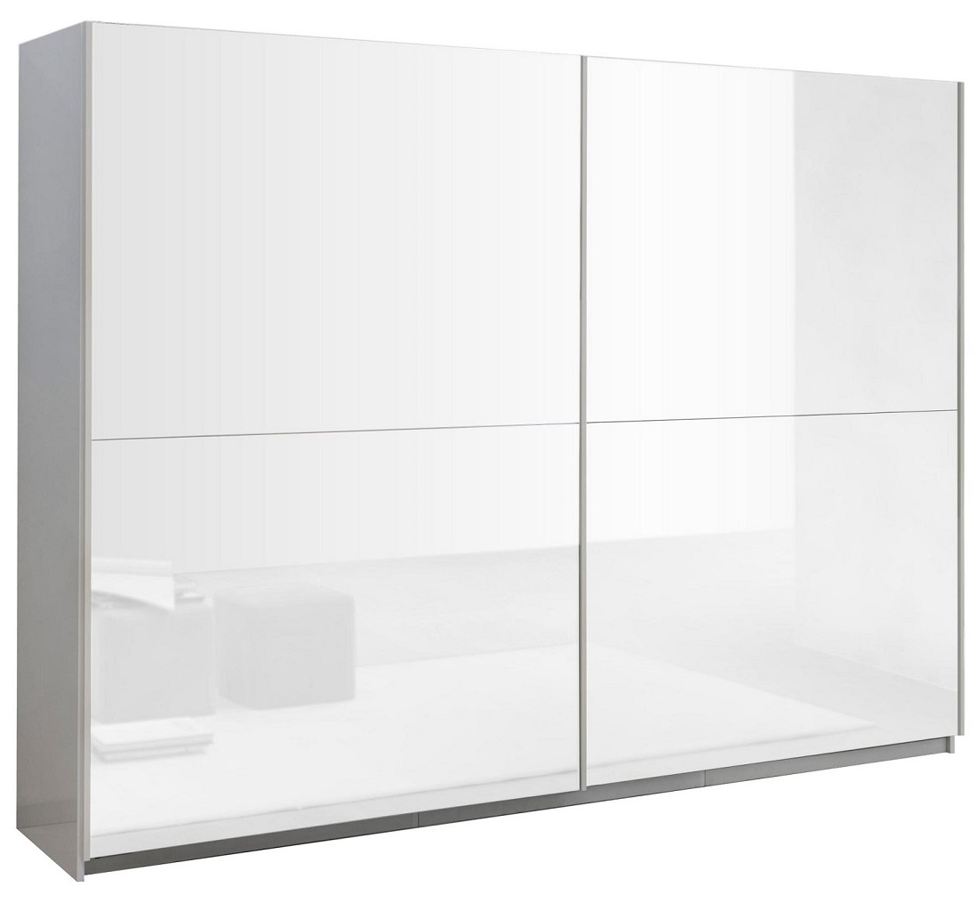 Slaapkamer kledingkast Kenzo 148 cm breed - Hoogglans wit