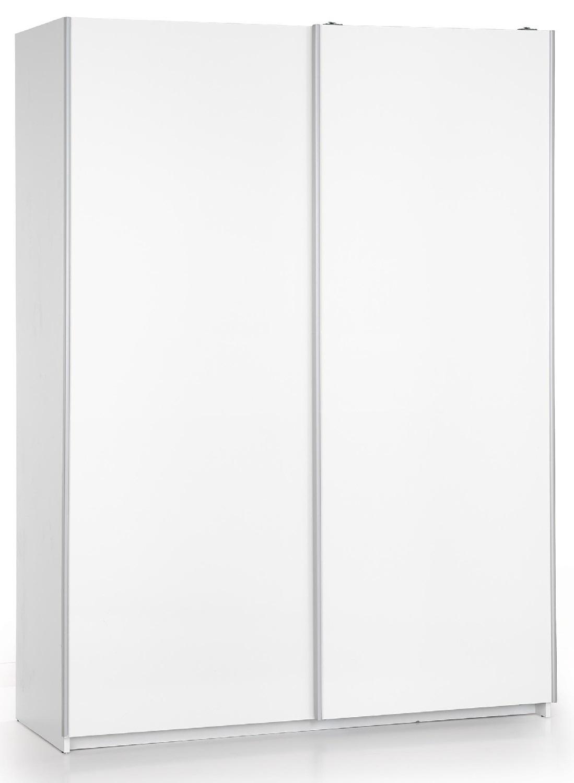 Kledingkast Lima 153 cm breed in hoogglans wit