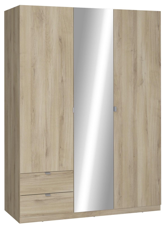 slaapkamerkast zweefdeurkast Mellie 140 cm breed in kronberg eiken