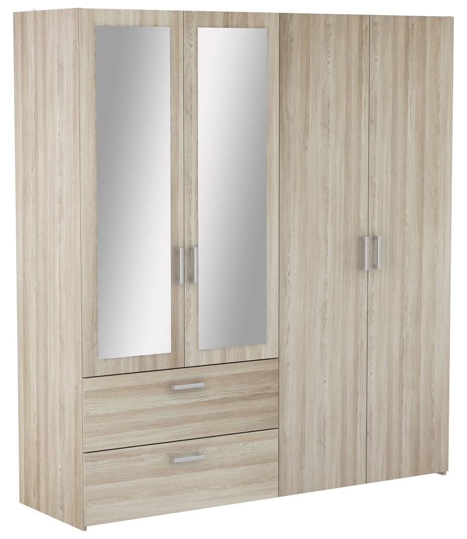 Slaapkamer kledingkast Ready Large 179 cm breed - Shannon eiken