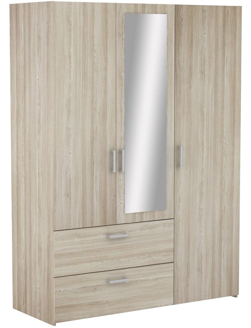 Slaapkamer kledingkast Ready Medium 144 cm breed - Shannon eiken