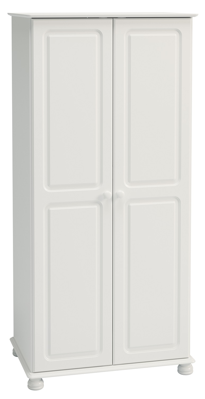 Kledingkast Rich B 185 cm hoog in wit