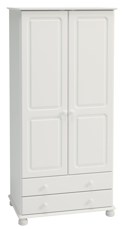 Kledingkast Rich C 185 cm hoog in wit