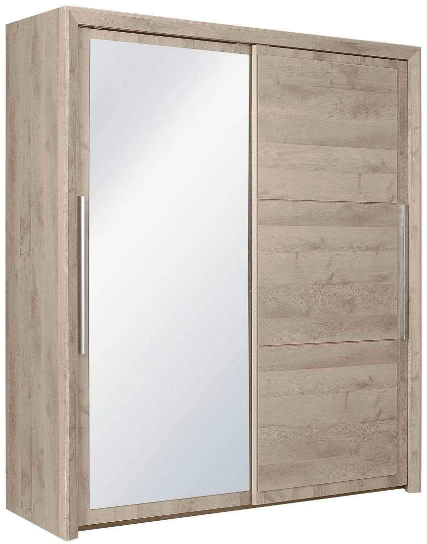 slaapkamerkast zweefdeurkast Sarlat 191 cm breed in donker eiken