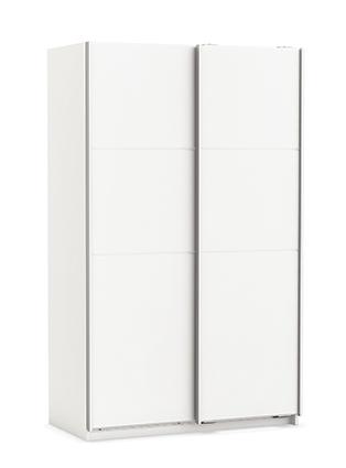 Slaapkamer kledingkast Tessa Small 203 cm hoog - Wit