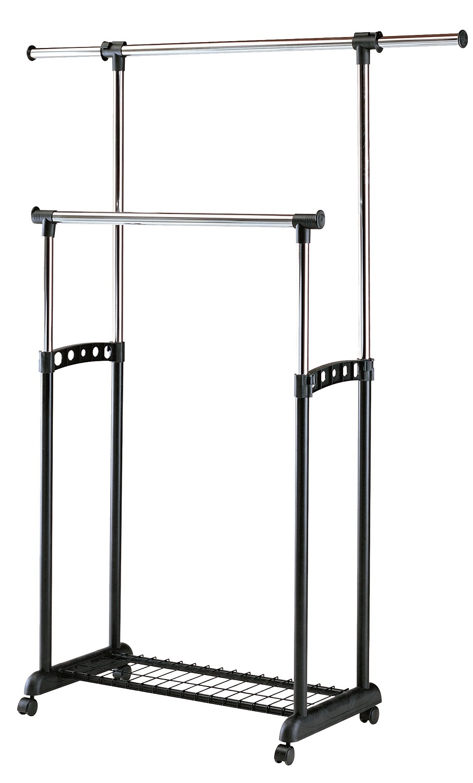 Kledingrek Tetra 90 tot 142 cm breed in zwart