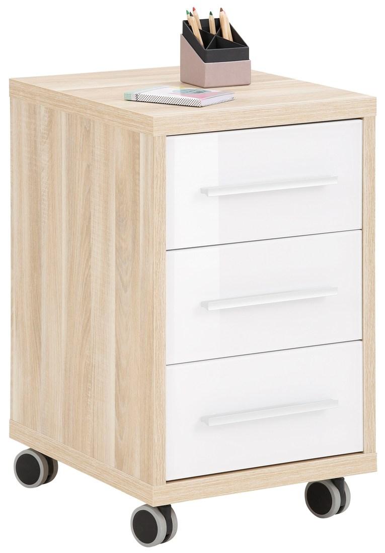 Ladeblok Banco 68 cm hoog Eiken met wit