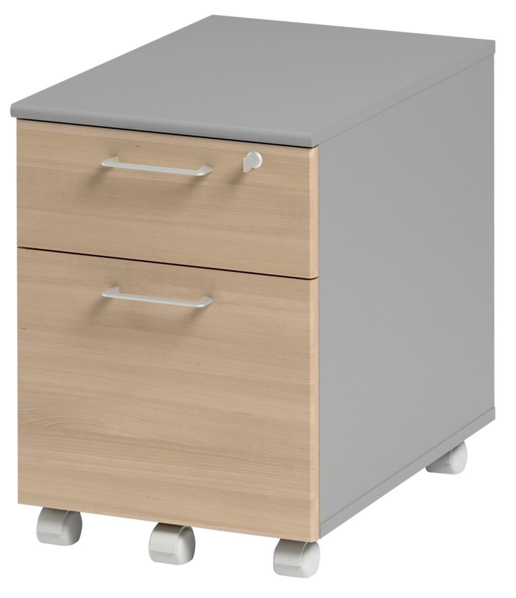 Ladeblok Jazz 1 van 60 cm hoog in beuken met licht grijs