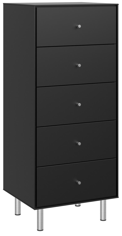 Ladekast Maga 111 cm hoog in zwart