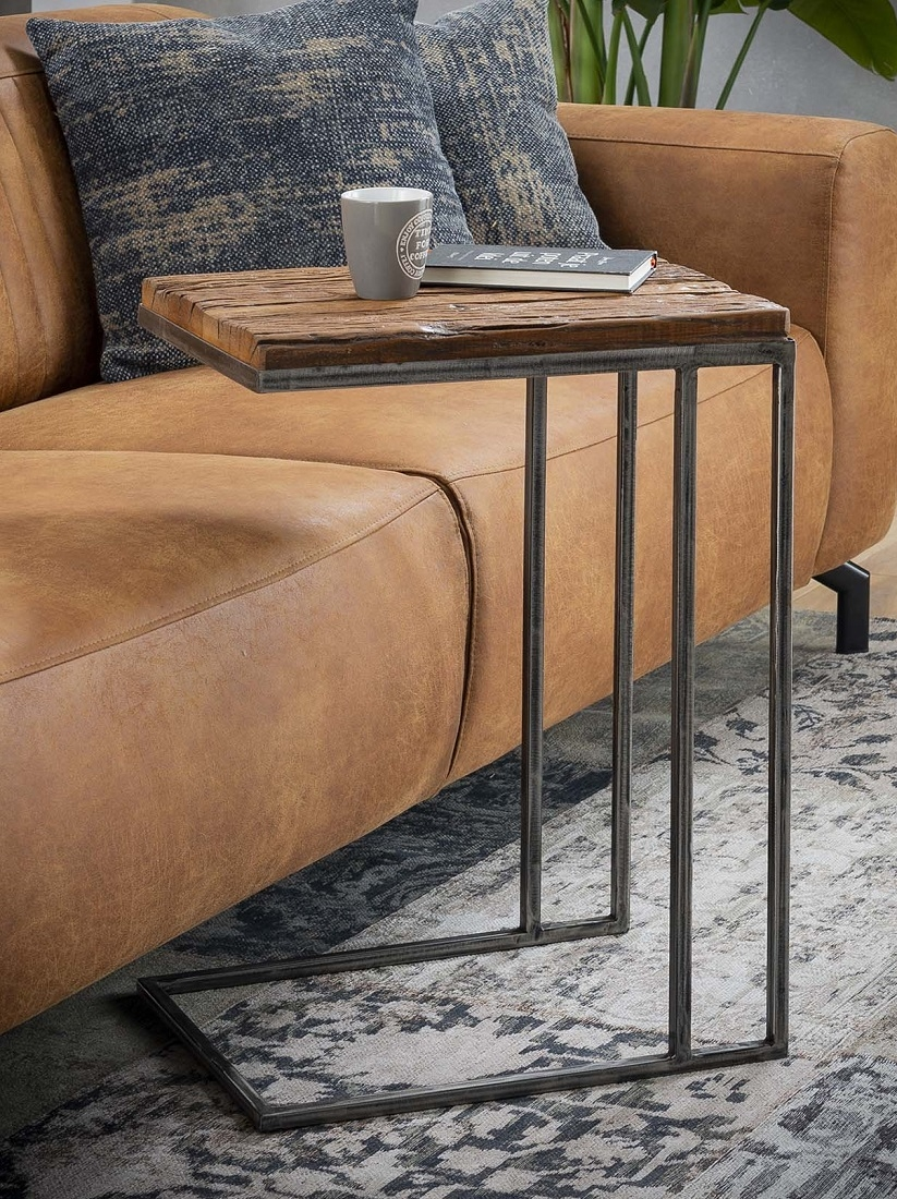 Laptoptafel Grained 62 cm hoog - Robuust hardhout