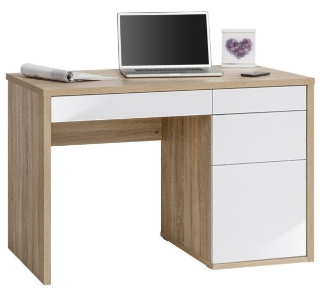 Lenno Computer Bureau – Sonoma eiken met Hoogglans wit