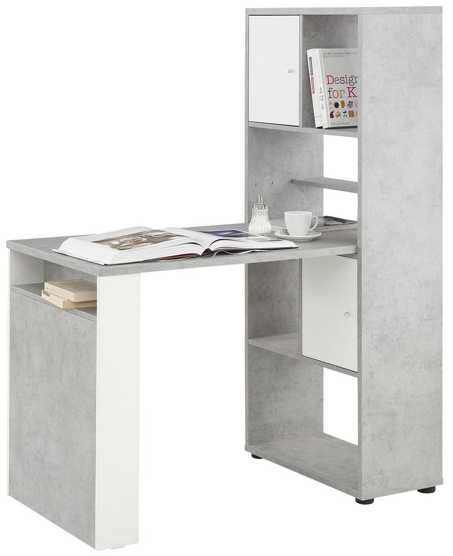 Mini Office bureau Halter - Grijs beton