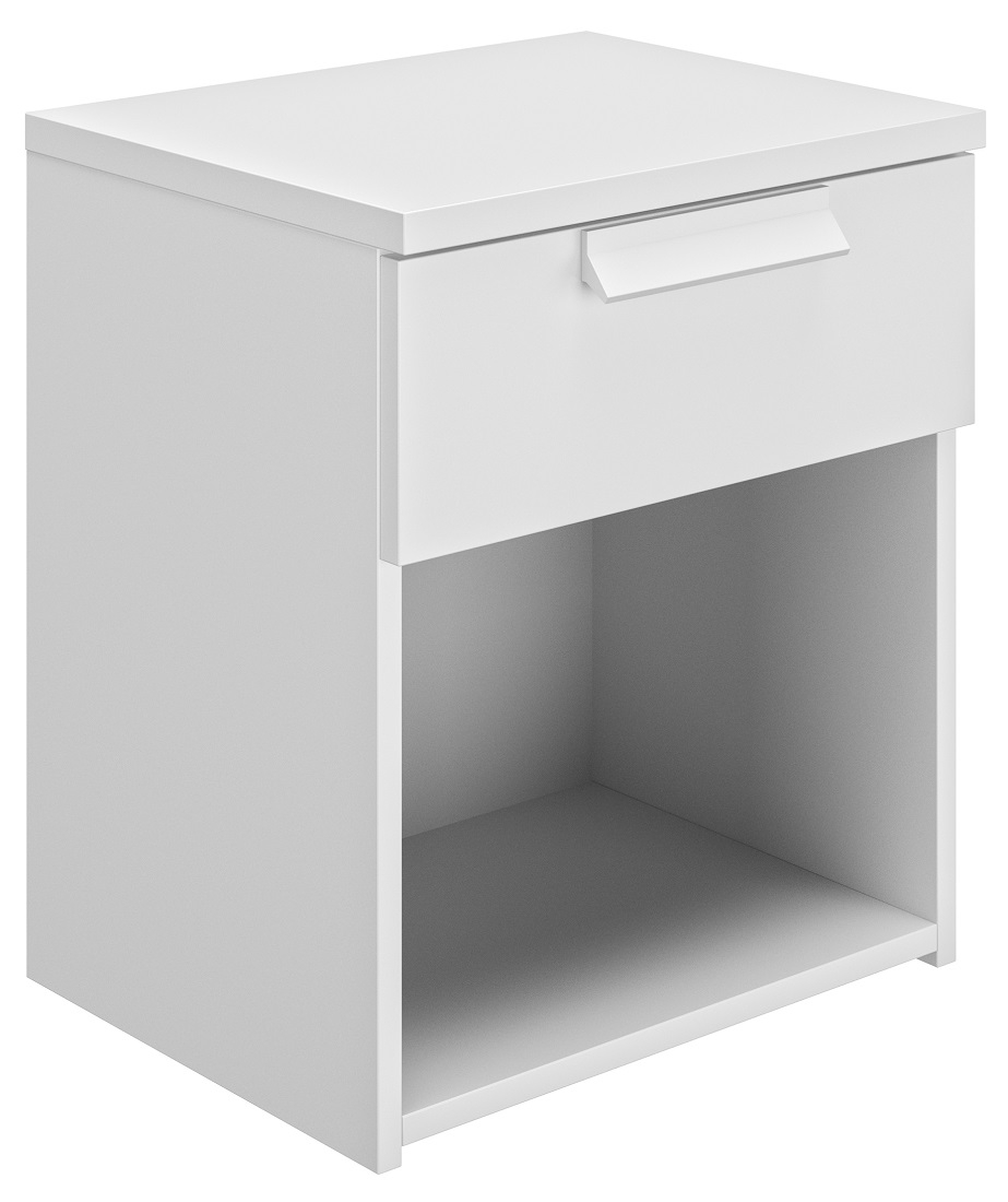 Nachtkastje Cyrus 50 cm hoog in wit