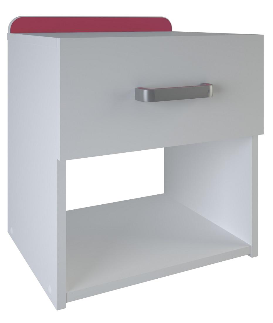Nachtkastje Reverso 46 cm hoog - Wit