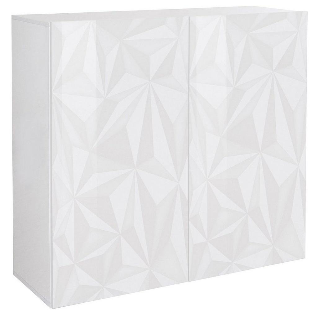 Opbergkast Kristal 121 cm breed in hoogglans wit