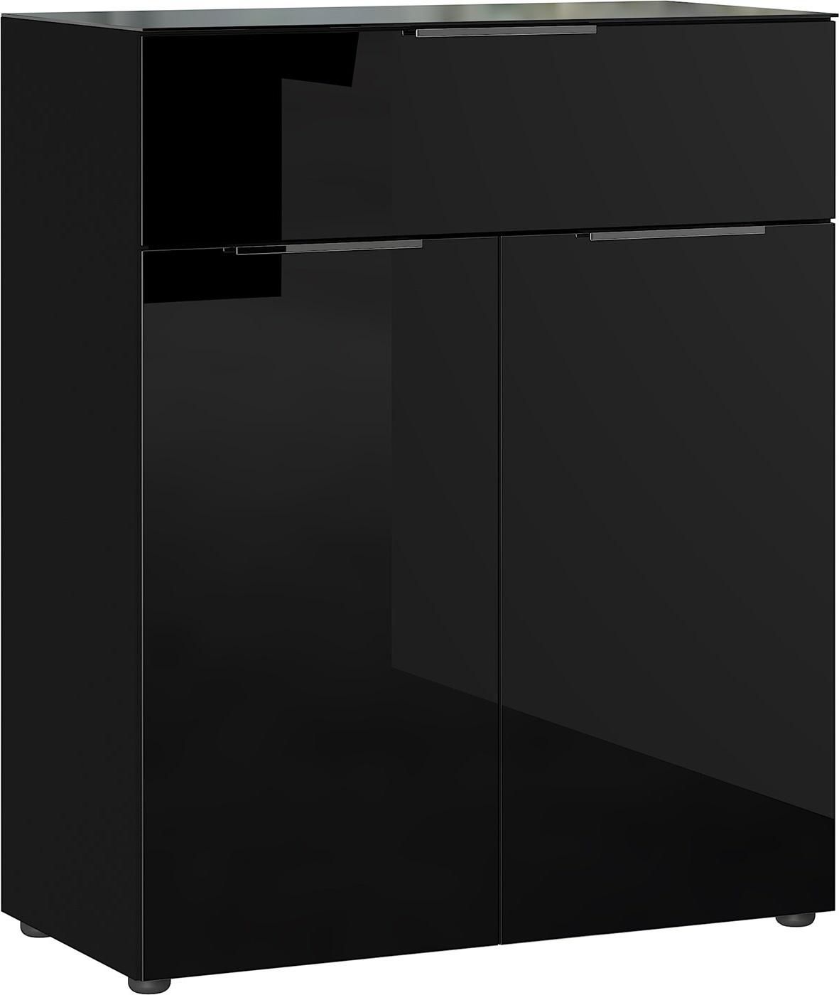 Opbergkast Oakland 102 cm hoog in zwart