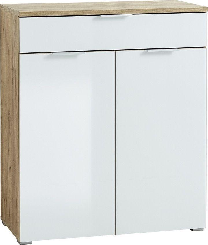 Opbergkast Telde 105 cm hoog - Navarra Eiken met wit