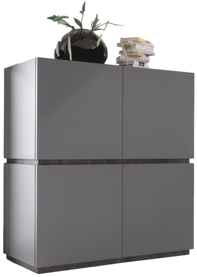 Opbergkast Vespa 127 cm hoog - Mat grijs