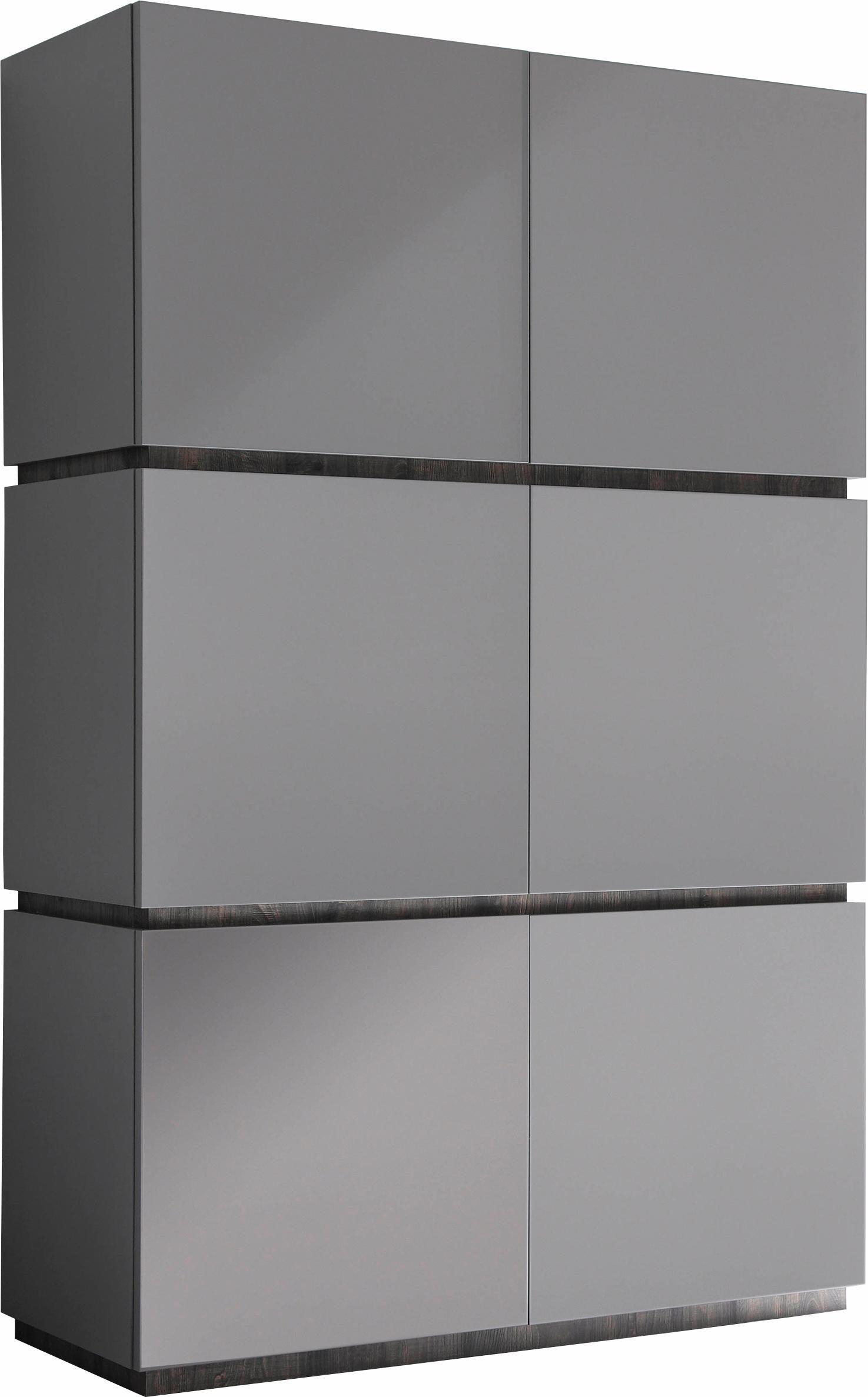 Opbergkast Vespa 190 cm hoog Mat grijs