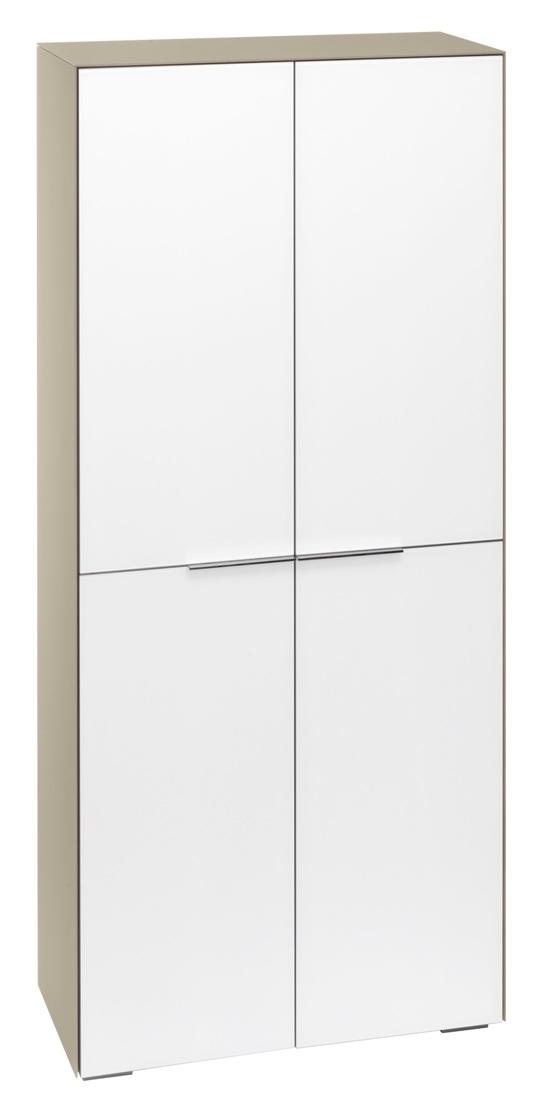 Opbergkast Yas 180 cm hoog - Zand met wit
