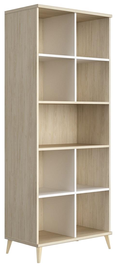 Open boekenkast Artefact 199 cm hoog in eiken