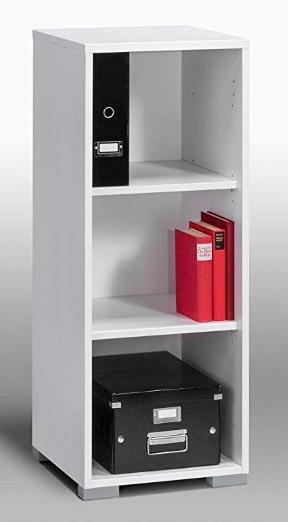 Boekenkast Jones 1 van 110 cm hoog in wit