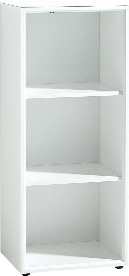 Open Boekenkast Monteria 120 cm hoog in wit