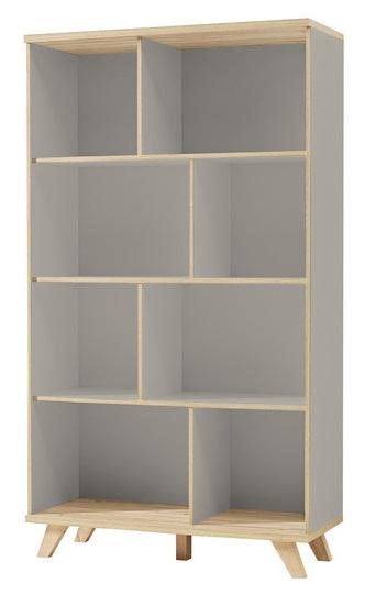 Open Boekenkast Accept 171 cm hoog - Grijs met eiken