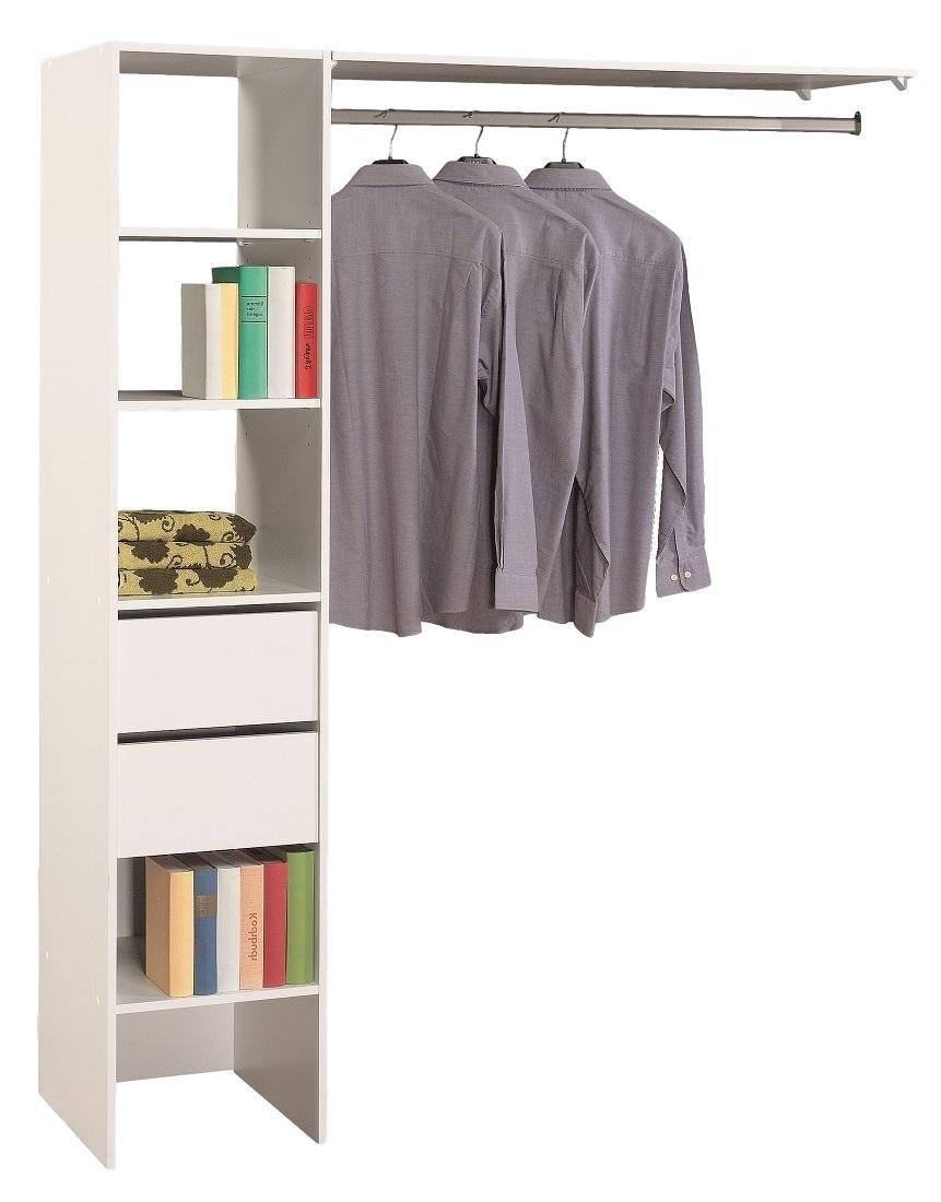 Open Slaapkamer kledingkast Duo 187 cm hoog - Wit