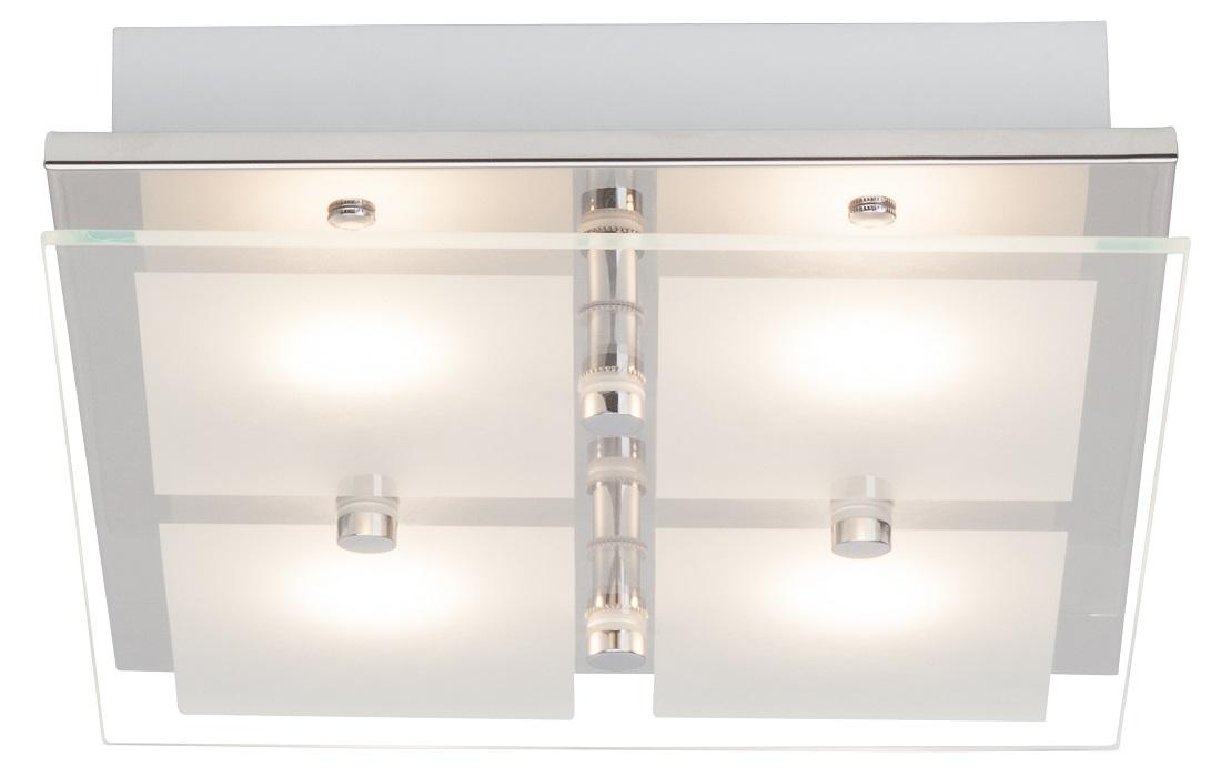 Plafondlamp Atlas LED 26x34cm met 4x5Watt in chroom