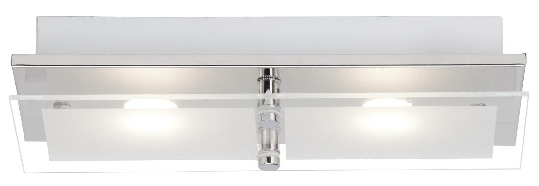 Plafondlamp Atlas LED 2x5Watt in chroom