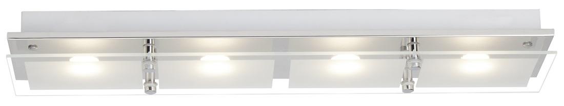 Plafondlamp Atlas LED 4x5Watt in chroom