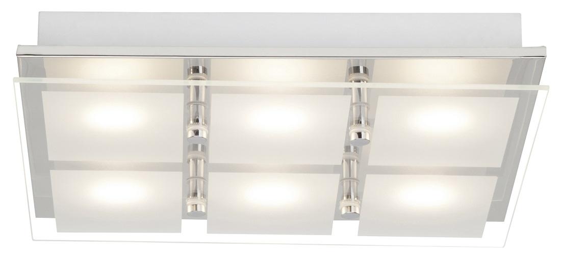 Plafondlamp Atlas LED 6x5Watt in chroom