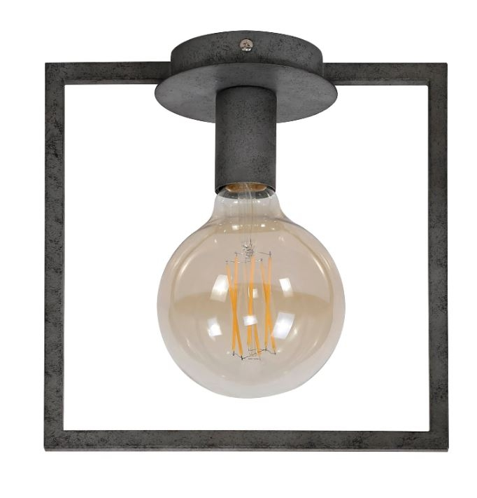 Plafondlamp Frame 26 cm hoog in oud zilver