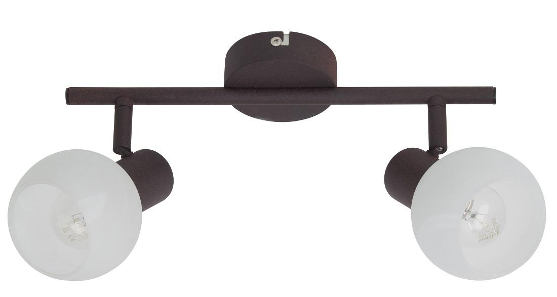 Plafondlamp Gobi 2xE14 max 40Watt in bruin met wit