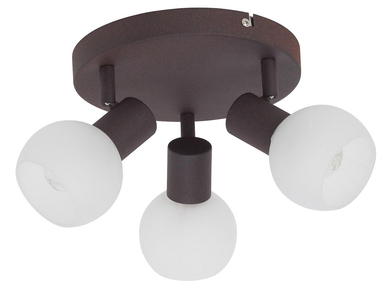 Plafondlamp Gobi 3xE14 max 40Watt in bruin met wit