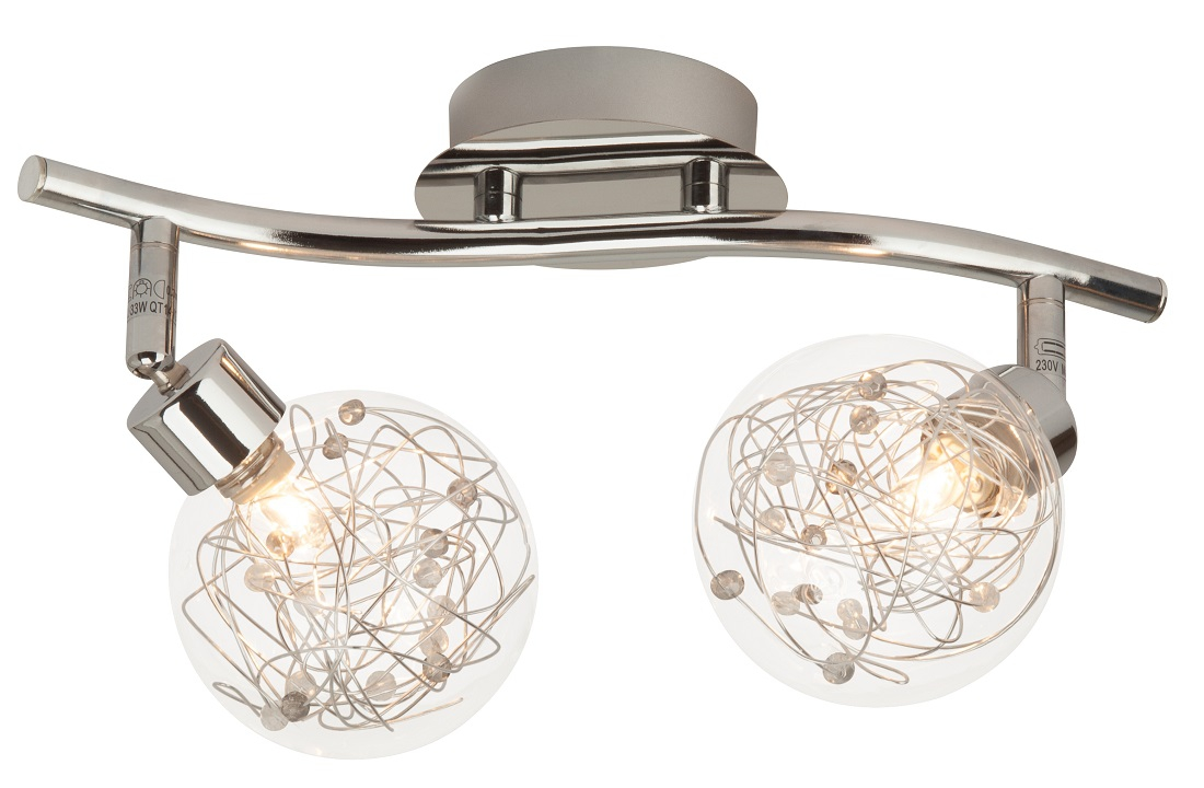 Plafondlamp Joya 38 cm breed in chroom