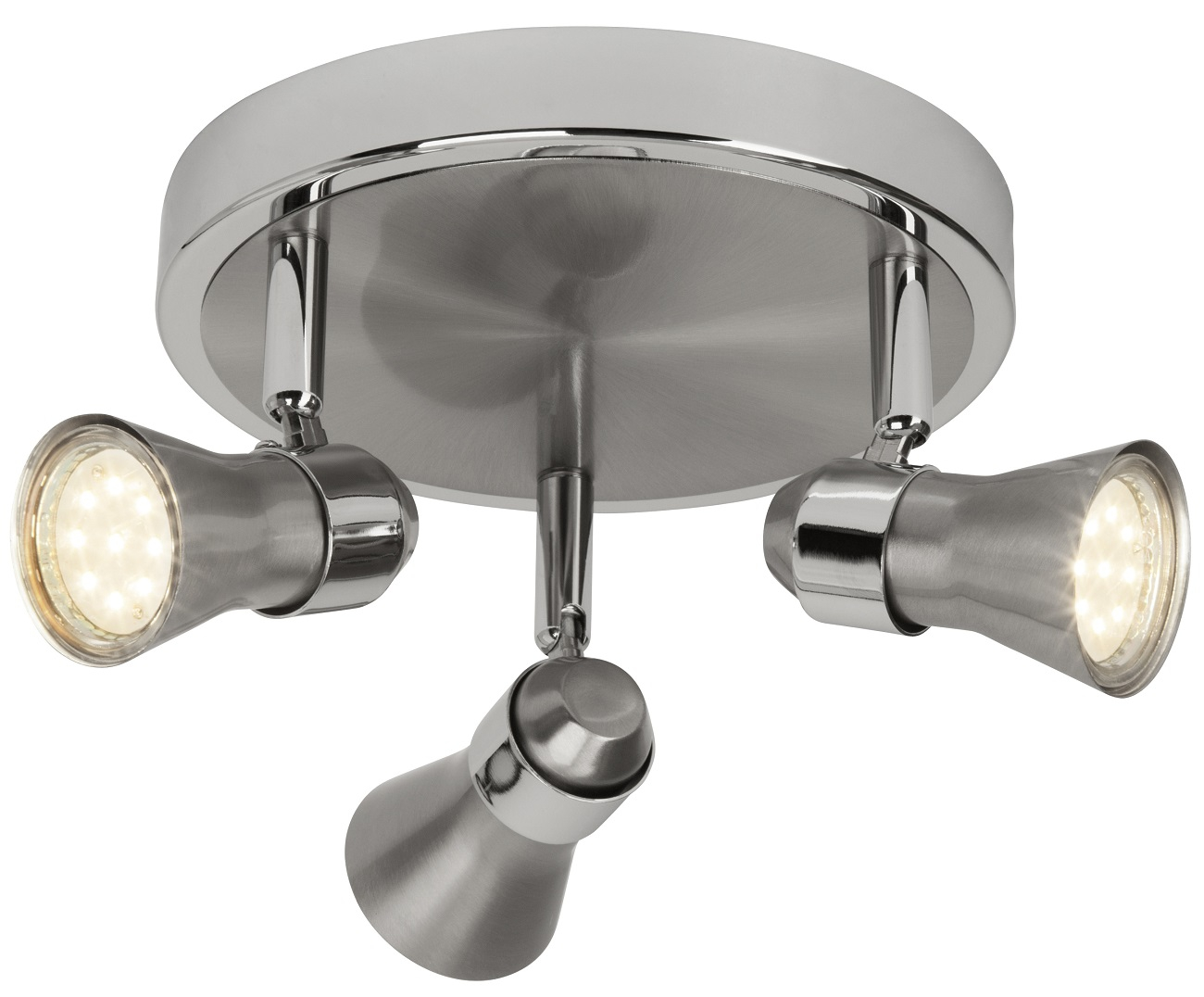 Plafondlamp Sonny 3xGU10 5Watt 3000K in chroom
