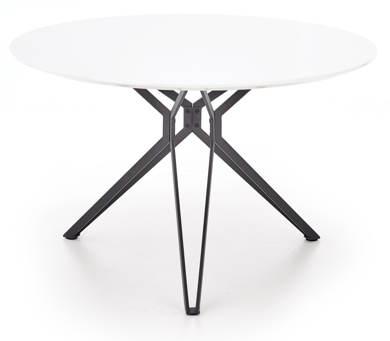 Ronde eettafel Pixel 120 cm breed in hoogglans wit