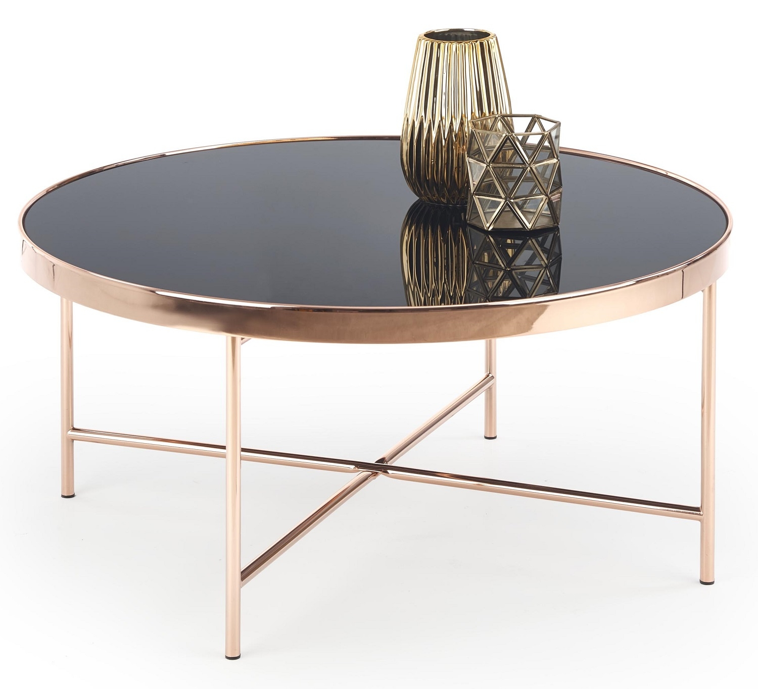 Ronde salontafel Moria 82 cm breed in zwart