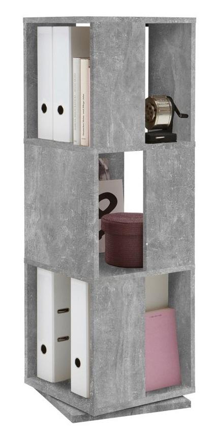 Rotator Ordnerkast 108 cm hoog - Grijs beton