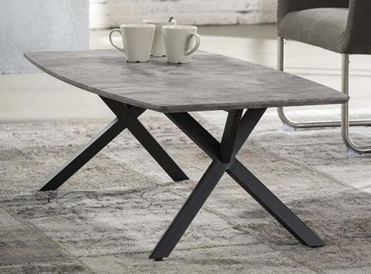Salontafel Dayna 120 cm breed Grijs beton